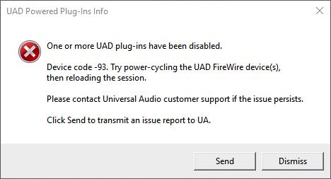 Troubleshooting Disabled UAD Plug-Ins – Universal Audio