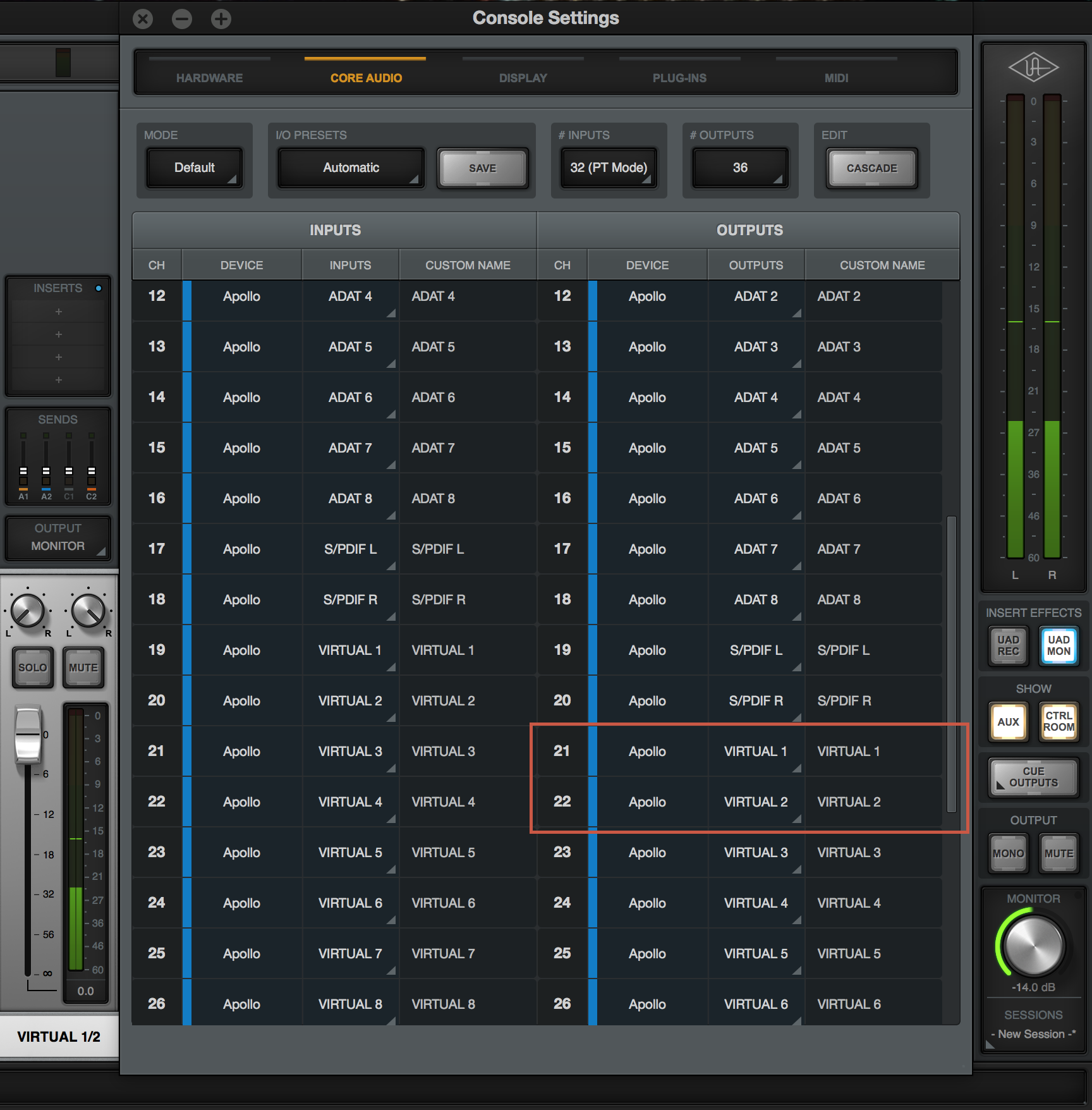 Routing Mac System Audio to Virtual Channels in Console